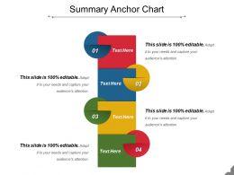 Summary Anchor Chart Presentation Powerpoint Templates