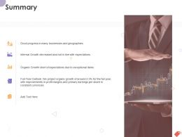 Summary Businesses And Geographies Ppt Powerpoint Presentation Inspiration Themes