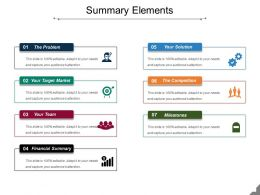 Summary Elements Sample Ppt Files