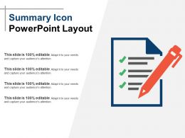 Summary Icon Powerpoint Layout