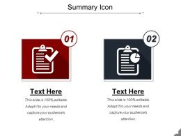 Summary Icon Presentation Backgrounds