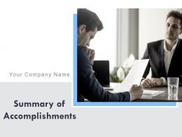 Summary Of Accomplishments Powerpoint Presentation Slides