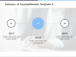 Summary Of Accomplishments Template Audiences Attention Ppt Powerpoint Presentation Ideas Show