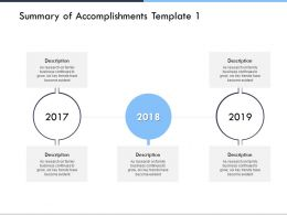 Summary Of Accomplishments Template Years D273 Ppt Powerpoint Presentation Ideas Inspiration