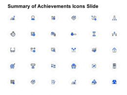 Summary Of Achievements Icons Slide Social Measuring Ppt Powerpoint Presentation Ideas