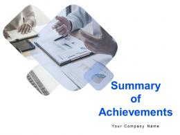 Summary Of Achievements Powerpoint Presentation Slides