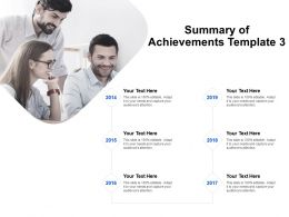 Summary Of Achievements Template Communication Ppt Powerpoint Presentation Ideas Slide