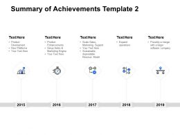 Summary Of Achievements Template Product Enhancements Ppt Powerpoint Presentation Ideas Layout