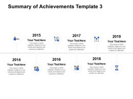 Summary Of Achievements Template Slide Agenda D281 Ppt Powerpoint Presentation Ideas Show