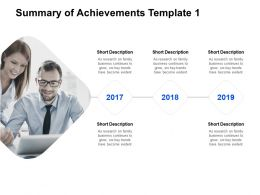 Summary Of Achievements Template Teamwork Ppt Powerpoint Presentation Ideas Images