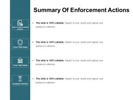 Summary Of Enforcement Actions Powerpoint Images