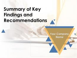 Summary Of Key Findings And Recommendations Powerpoint Presentation Slides
