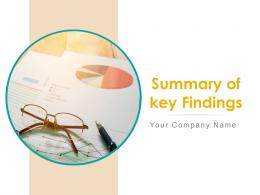 Summary Of Key Findings Powerpoint Presentation Slides