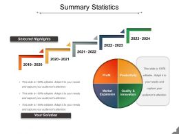 Summary Statistics Ppt Samples Download