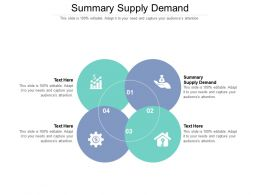 Summary Supply Demand Ppt Powerpoint Presentation Infographics Guidelines Cpb