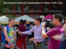 Summer Festival Celebrated In New York City
