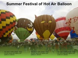 Summer Festival Of Hot Air Balloon