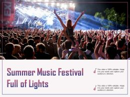 Summer Music Festival Full Of Lights