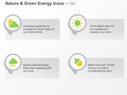 Sun Cloud Rain Green Energy Conservation Ppt Icons Graphics