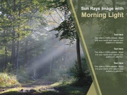 Sun Rays Image With Morning Light