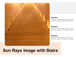 Sun Rays Image With Stairs