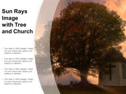 Sun Rays Image With Tree And Church