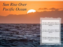 Sun Rise Over Pacific Ocean