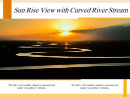 Sun Rise View With Curved River Stream