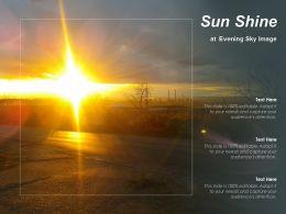 Sun Shine At Evening Sky Image