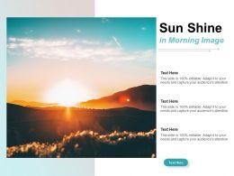 Sun Shine In Morning Image