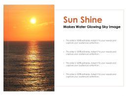 Sun Shine Makes Water Glowing Sky Image
