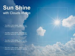 Sun Shine With Clouds Image