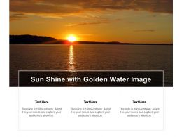 Sun Shine With Golden Water Image