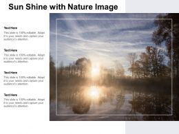 Sun Shine With Nature Image