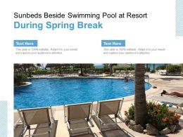 Sunbeds Beside Swimming Pool At Resort During Spring Break