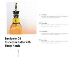 Sunflower Oil Dispenser Bottle With Sharp Nozzle