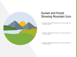 Sunset And Forest Showing Mountain Icon