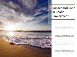 Sunset And Sand In Beach Powerpoint