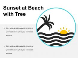 Sunset At Beach With Tree