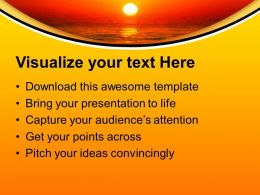 Sunset Background Nature Powerpoint Templates Ppt Themes And Graphics 0313
