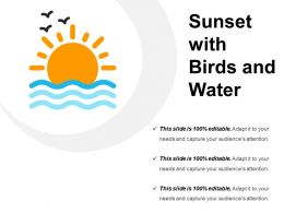 Sunset With Birds And Water