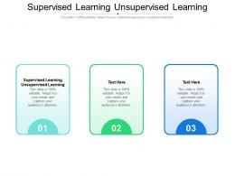 Supervised Learning Unsupervised Learning Ppt Powerpoint Presentation Layouts Summary Cpb
