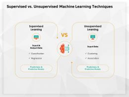 Supervised Vs Unsupervised Machine Learning Techniques M627 Ppt Powerpoint Presentation Summary Objects