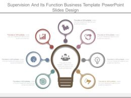 Supervision And Its Function Business Template Powerpoint Slides Design