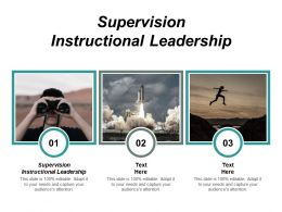 Supervision Instructional Leadership Ppt Powerpoint Presentation Gallery Layouts Cpb