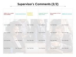 Supervisors Comments 2 2 Ppt Powerpoint Presentation Show Outline