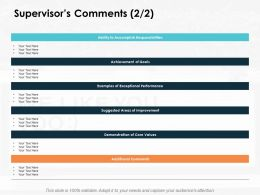 Supervisors Comments Core Values Ppt Powerpoint Presentation Icon Graphics Download