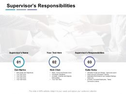 Supervisors Responsibilities Rules Ppt Powerpoint Presentation Infographic Template Ideas