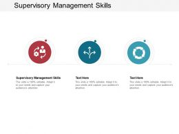 Supervisory Management Skills Ppt Powerpoint Presentation Icon Show Cpb