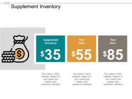 Supplement Inventory Ppt Powerpoint Presentation Icon Master Slide Cpb